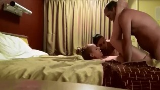 2 sexy girls get fucked hard and get facials in amateur homemade MFF threesome