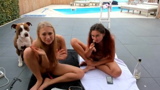 fun by the pool with siswet