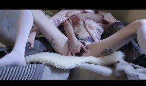 Lesbian fingers Hairy Girl. Watch her cum twice