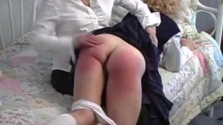 Pixie Is Paddled On Her bare bottom for cheating on test