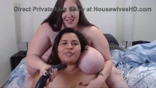 Plump housewives with jiggling massive boobs