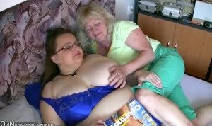 Two old Grannies and big tits