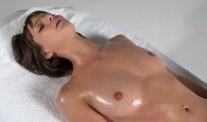 Vaginal fingering oil massage