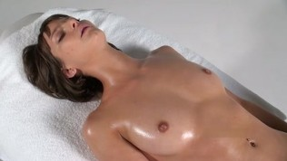 Vaginal fingering oil massage
