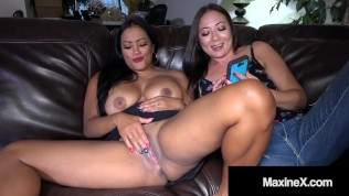 Busty Asian Lesbian Maxine X Creams Cambodian Cunt With Lover Nyssa Nevers!
