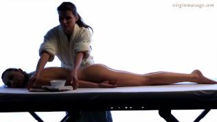 Virgin young babe Vika on hymen showing massage