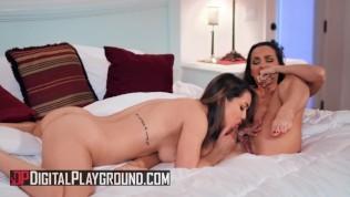 Digital Playground – Busty Chicks Abigail Mac & Alina Lopez Tribbing After A Bath