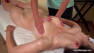 First lesbian pussy virgin massage