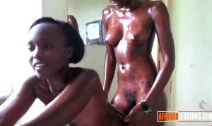Horny African Lesbians Lick Eachothers Black Pussies