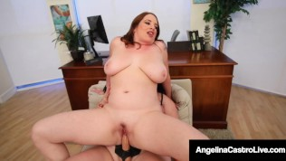 Thick Dr. Angelina Castro Cures Curvy Maggie Green With Magic StrapOn Cock!