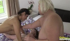 Busty british mature porn star and two lesbians