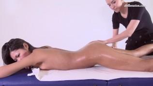 First time massage masking for hot virgin Asian