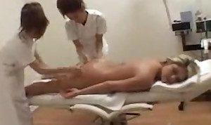 Asian mixed lesbian massage