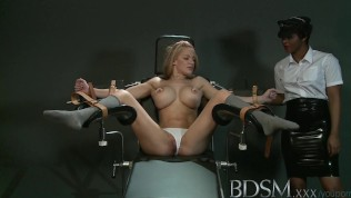 BDSM XXX Slave girl with massive breasts gets it hard with orgasm from angry Mistress