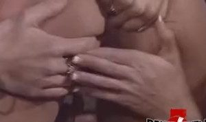 Deep anal fingering in hardcore lesbian threesome