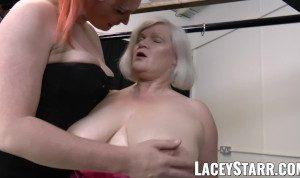 LACEYSTARR – Kinky GILF bondage in lesbian threesome