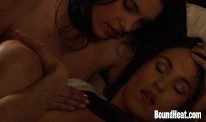 Lesbian Slave Orgasming Under Mistresses Strapon