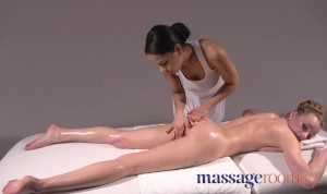 Massage Rooms French and Czech interracial lesbian massage and 69