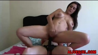Stunning Ruby fucks all wet holes her girlfriend by strapon