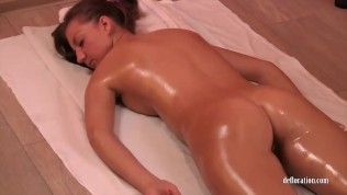 Hot ass pussy and tits massage for Lena